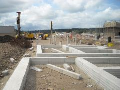 Cast in situ concrete ground beams